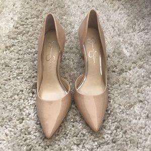 Jessica Simpson 4 inch heel in light nude